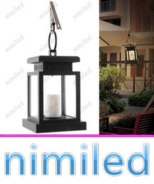 solar umbrellas 2019 - nimi1045 Vintage Solar Powered Lamp Waterproof Hanging Lantern Candle Lights LED With Clamp Beach Umbrella Tree Garden Y