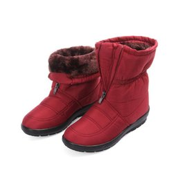 Warmest Winter Boots Canada - snow boots 2017 Winter warm waterproof women boots mother shoes casual cotton winter autumn boots female plus size
