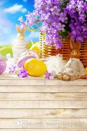 Easter Backdrops Canada - Easter Eggs 5X7ft Children Baby Fotografia Background Vinyl Cloth Photography Backdrops Photo Decor