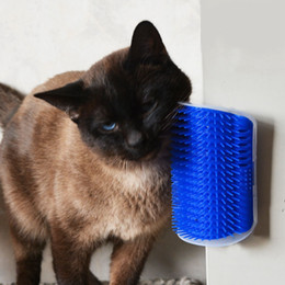 plastic shipping corners NZ - Pet Products for Cats Brush Corner Cat Massage Self Groomer Comb Brush with Catnip Wholesale Free Shipping