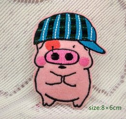 Barato Desenhos Animados Mcdull-Cute <b>McDull Cartoon</b> Pig Chapéu bordado Iron patch applique kids baby decorate Cartoon Shirt Kids Toy Gift baby Decore Individualidade 10pc
