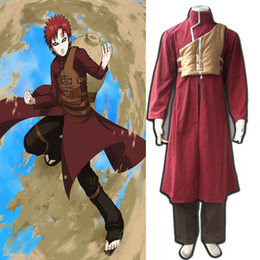 japanese cosplay clothes Canada - Free Shipping Anime COS Naruto Gaara Fourth Generation Cosplay Clothes Costume Disfraces Full Set For Halloween