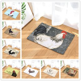 Painted Floor Mats Canada - Chicken Pattern Painted Image Bedroom Entrance Carpet Doormat Rug Non-slip Bathroom Livingroom Kitchen Floor Mats 40x60cm 50x80cm