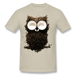 Night Shirt Men Canada - creative composition Short Sleeve Tshirs Hoot Night Owl Coffee and owl t shirts for men new style Cotton Tee Shirt.