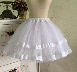 Free size lolita dresses online shopping - Violent Gothic Baroque Rococo Lolita Bottom Skirt Black White Lace Petticoat Can Custom Sweet Lolita Dresses