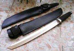 Durável de Aço Frio MESTRE TANTO Samurai Sobrevivência lâmina Fixa Facas 440A de Aço de Alça De Borracha ao ar livre sruvival Caça EDC Faca em Promoção