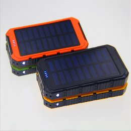 Discount cell phone commercial - 20000mAh Novel solar Power Bank Ultra-thin Highlight LED Solar Power Banks 2A Output Cell Phone Portable flashlight Char