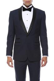 $enCountryForm.capitalKeyWord UK - 2018 New Custom Made Mens Suits Shawl Lapel Slim Fit Wedding Suits for Groom   Groomsmen Best Man Prom Party Formal Suits (Jacket+Pants)