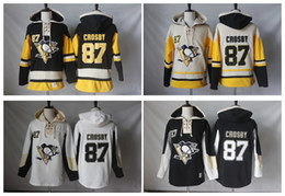 Crosby winter jersey online shopping - High Quality New Old Time Hockey Jerseys Pittsburgh Penguins Sidney Crosby Hoodie Pullover Sports Sweatshirts Winter Jacket