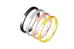 Stainless Steel Finger Rings Wholesale Canada - 5pcs lot mixed color size stainless steel 2mm wider slim finger rings thin band knuckle midi ring