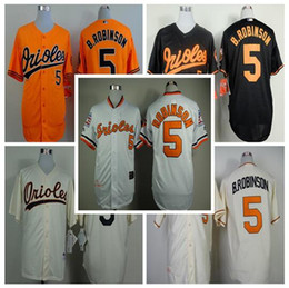 a4472a91718 Mens Baltimore Orioles Baseball Jerseys 5 Brooks Robinson Stitched Home  Road Alternate Throwback ...