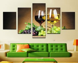 $enCountryForm.capitalKeyWord Canada - home decoration 5 piece Wine cups pictures canvas oil painting on wall art for living room print decor cheap modern F 1775