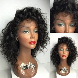 Deep Curly Indian Lace Wig Australia - Deep Curly Mongolian Human Hair Wigs With Baby Hair Pre Plucked Unprocessed Glueless Curly Full Lace Wigs