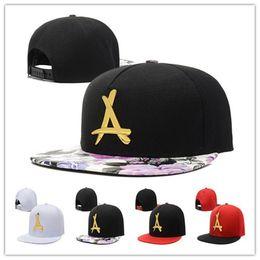 8488ade857007 Wholesale Tha Alumni Baseball Caps Gold A Letter bboy hip hop cap famous snapback  Hats for men women snapback bones-in hats