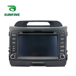 Gps For Kia Sportage NZ - Quad Core 1024*600 Android 5.1.1 Car DVD GPS Navigation Player Car Stereo for Kia Sportage 2010 2011 2012 2013 Deckless Radio 3G Wifi