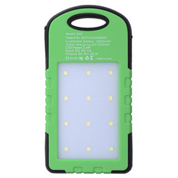 outdoor solar panels Canada - Outdoor Camping Emergency Power,Universal Waterproof Solar Charger Power Bank With 12 LED Camping Lights Solar Panel Power For Mobile