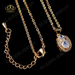 $enCountryForm.capitalKeyWord Canada - 3 layers 18K gold plated classical style micropave CZ diamond crystal pendant necklace