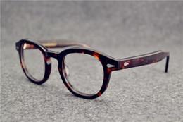 Ingrosso Occhiali da Sole Occhiali Johnny Depp plancia occhiali cornice cornice che ristabilisce Óculos de grau uomini e donne occhiali miopia cornici
