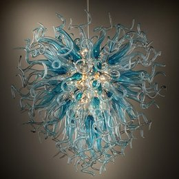 Art deco style bedroom online shopping - Art Deco Hand Blown Murano Glass Chandelier Light Chihuly Style Modern LED Glass Shade Home Hotel Decor Energy Saving Chandelier