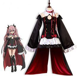 Al por mayor-Anime Seraph Of The End Owari no Seraph Krul Tepes Uniforme Cosplay Costume Set completo Vestido Outfit Size S-XL