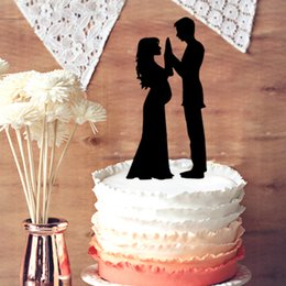Wedding Cake Topper Our Stunning Silhouette Pregnant Bride Groom Family Romantic
