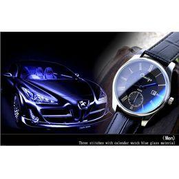 $enCountryForm.capitalKeyWord Canada - Fashion Luxury Watches for Loves PU Leather Sports Car Woman Blue Glass Casual Watch for Man Quartz Calender Sport Watch