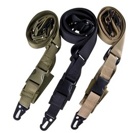 Wholesale Sinairsoft Point Quick Detach Sling Strap Release Three Point Rifle AR Sling Adjustable Tactical Airsoft Gun Strap Hunting Rifle Lanyard