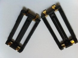 Venta al por mayor de Soporte de la batería de alta calidad keystone SMT DIY Box Mod li ion ni-mh lifepo4 18650 soporte de la batería doble 2 * 18650 trineo de batería con lengüetas SMT