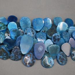 $enCountryForm.capitalKeyWord UK - 15.5inch Natural Blue Druzy Agate Slab Gemstone Beads, Energy Reiki Gems Women Slice Jewelry Necklace Pendant Drusy Druzy Waterdrop Shape