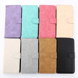 Wholesale 50pcs Retro colorful spot leather cover for iphone s plus High quaity leather wallet skin with card hoder stand case candy color