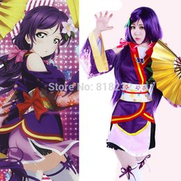 Discount love live cosplay nozomi - Wholesale-Lovelive Love Live Angelic Angel Tojo Nozomi Kimono Uniform Dress Outfit Anime Cosplay Costumes