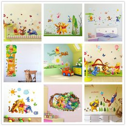 100pc ZY AY AY922 ZY1485 2006 2005 7058 876 206AB 711 703 Winnie The Pooh  Cartoon Kids Room Decor Gift Nursery Wall Stickers For Room Decals Part 28