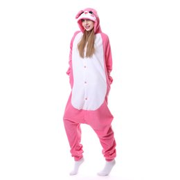 0cb95a822 Pijamas Unisex Homewear Mulheres Cute Rose Rabbit Cartoon Animal Pyjama  Sets Inverno Camisola Long Sleeve Hoode Fleece Pajama