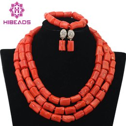 $enCountryForm.capitalKeyWord Australia - Luxury Coral Beads Bridal Jewelry Sets African Nigerian Wedding Beads for Women Jewelry Set Choker Necklace ABF312