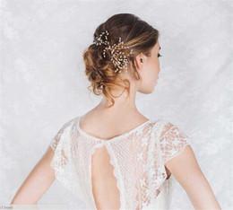 Pearl U Pin Canada - Wholesale Wedding Bridal Pearl Headpiece Hair Accessories U Clips Pearl Pins Lot Vintage Prom Hair Jewelry Tiara Headband Head Hair Pieces