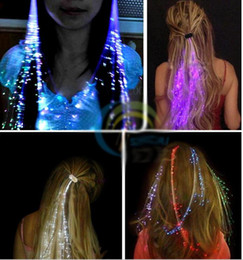 Glow Party Decorations Australia - led braided hair extensions luminous glowing hair extensions Flash Braid Party Girl Hair Glow by Fiber Optic Christmas Halloween Decoration