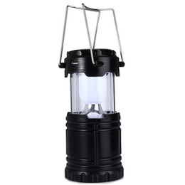 ip65 street lights UK - Classic style 6 LEDs Rechargeable Hand Lamp Collapsible Solar Camping Lantern Tent Lights for Outdoor Lighting Hiking lighting fixture