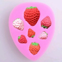 DIY Fondant Silicone Cake Mold Strawberry Mold Cake Baking Decoration Mould  For Kitchen Accessories