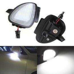 Vw Golf Light Bulbs Canada - 2 pcs Error Free 6 LED White Car Under Side Mirror Puddle Light Internal Lamps Fit for VW Golf6 GTI Cabriolet Passat B7 Touran