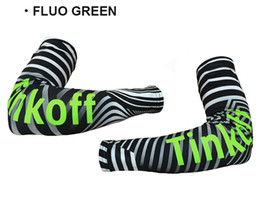 cycling team arm warmers 2020 - 2016 TINKOFF PRO TEAM FLUO GREEN T053 CYCLING ARM WARMER BICYCLE OVERSLEEVES SIZE:S-XXL discount cycling team arm warmer