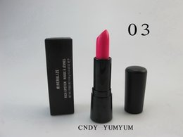 lipstick brands names NZ - Brand Makeup Mineralize Rich lipstick, 4.04G with English color name A03 candy yum yum