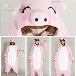 New Arrival Bridal Undergarments Lovely Pink Pig Kigurumi Theme Costume Animal Pajamas Cosplay Halloween Costumes 2017 Winter from pig costume kigurumi suppliers