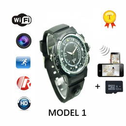 China Wholesale- 2017 hot wireless remote monitor Smart Watch clock saat Wifi Smartwatch wearable device supporting camera with IR nignt vision cheap ir remote watch suppliers
