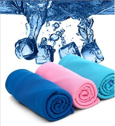 Wholesale New Arrival Magic Ice Towel cm Multifunctional Cooling Summer Cold Sports Towels Cool scarf Ice belt For Children Adult