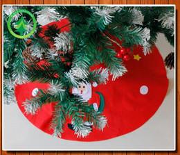 2018 Snowman Christmas Tree Skirt 45cm Santa Ornament Skirts Cloth