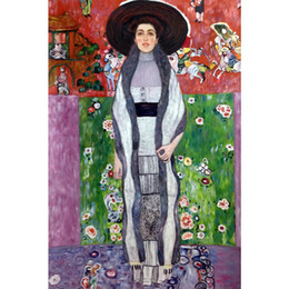 $enCountryForm.capitalKeyWord NZ - Figure art woman Portrait of Adele Bloch-Bauer by Gustav Klimt Oil Painting modern High quality Hand painted