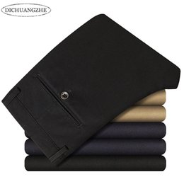 mid hair lengths 2018 - Wholesale- Men's business trousers 2017 new autumn and winter shelves straight hair fashion men's casual cloth