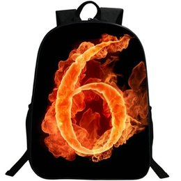 $enCountryForm.capitalKeyWord UK - 6 lucky number backpack Free style daypack Fire design schoolbag Photo rucksack Sport school bag Outdoor day pack