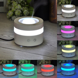 Aroma Night Light Wholesale Canada - Rainbow Ultrasonic 7 Colors Change Night Light LED Humidifier USB Aroma Diffuser Fragrance Sprayer Office Essential Oil Diffuser
