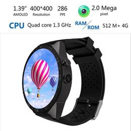 0918df42a6f Luxo Relógio Inteligente KW88 UHD Tela AMOLED Android 5.1 GPS MTK6580  SmartWatch telefone Relógio Suporte 3G Wifi Nano SIM WCDMA Monitor de  Freqüência ...